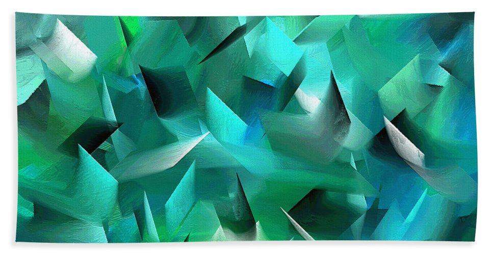 Abstract Bath Sheet featuring the painting 187a by Ely Arsha