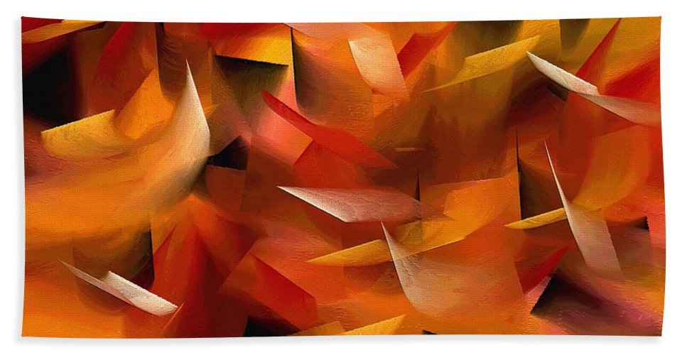Abstract Bath Sheet featuring the painting 188a by Ely Arsha