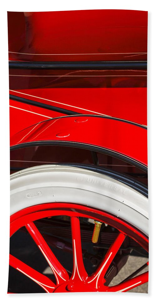Classic Car Hand Towel featuring the photograph 1903 Pope Hartford B Wheel Abstract by Jill Reger