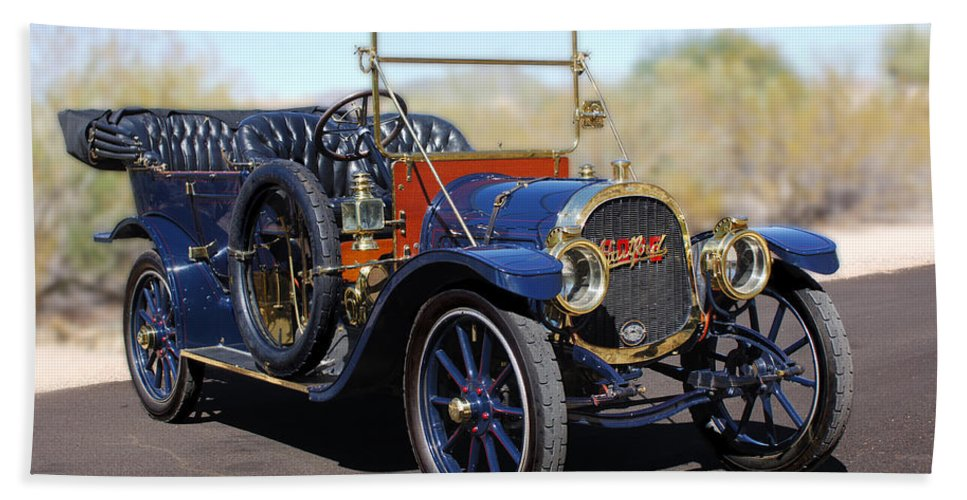 1910 Pope Hartford Model T Hand Towel featuring the photograph 1910 Pope Hartford Model T by Jill Reger