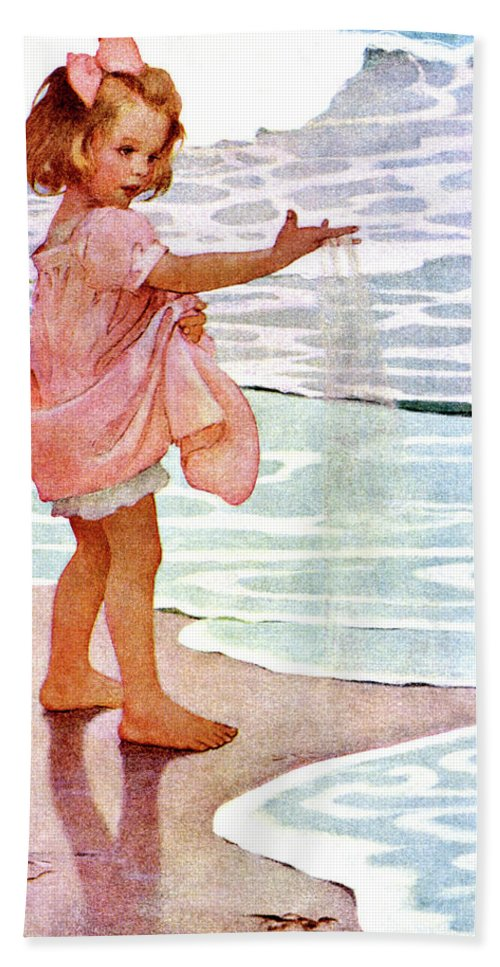 Vertical Bath Towel featuring the painting 1910s Jessie Willcox Smith Illustration by Vintage Images