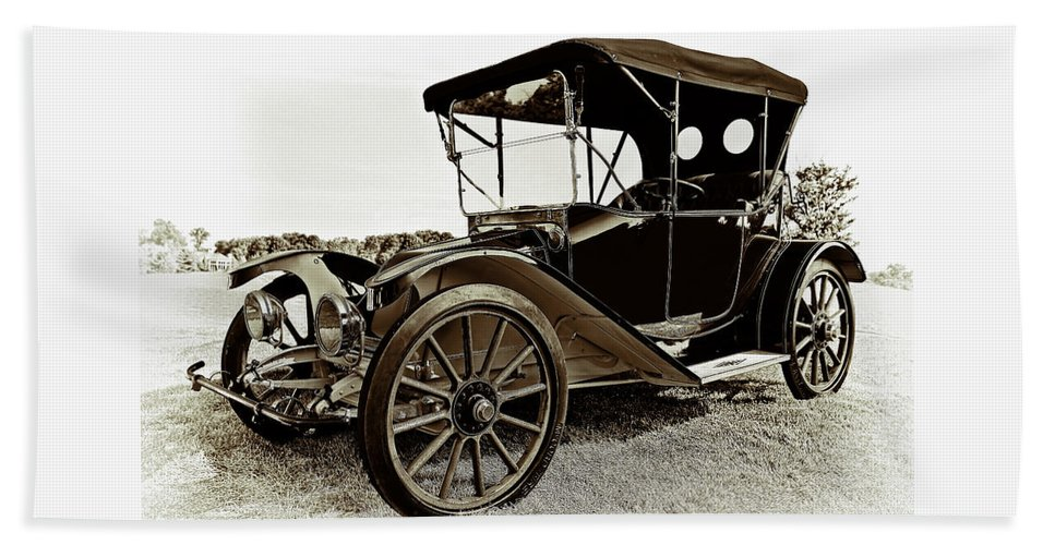 1913 Bath Sheet featuring the photograph 1913 Argo Electric Model B Roadster Coffee by Marcia Colelli
