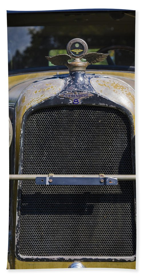 Antique Hand Towel featuring the photograph 1929 Duesenberg Model J Convertible - Barn Fresh by Jack R Perry