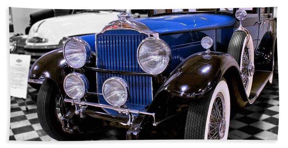 1930 Bath Sheet featuring the photograph 1930 Packard Limousine by Michael Gordon