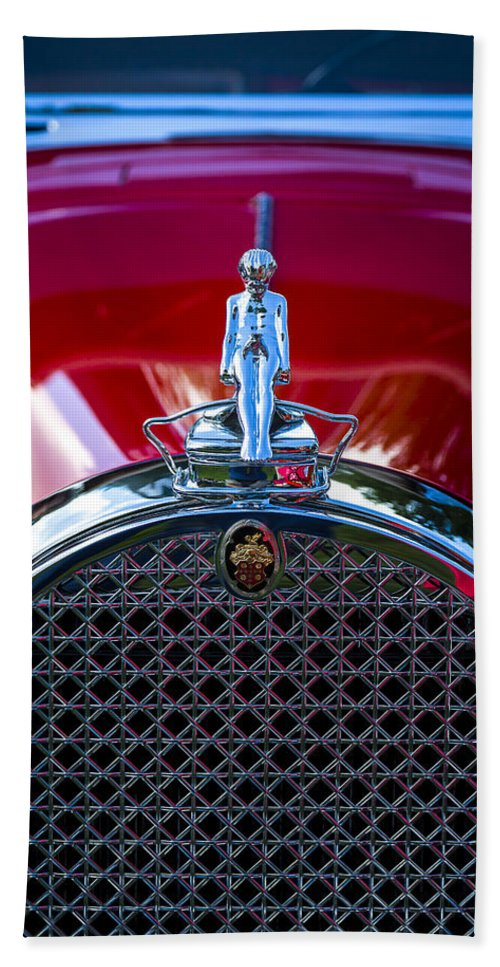 Antique Bath Sheet featuring the photograph 1930 Packard Model 734 Speedster Runabout by Jack R Perry