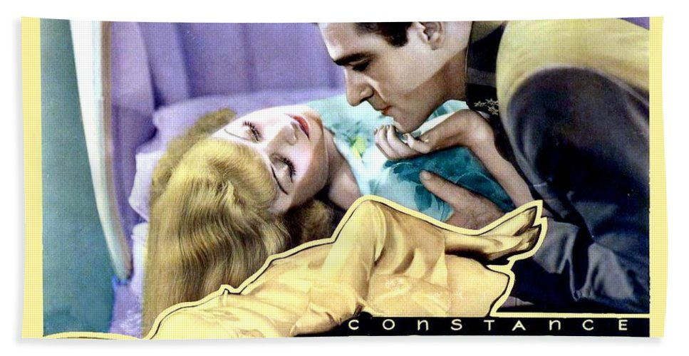 1933 Hand Towel featuring the digital art 1933 - After Tonight Motion Picture Poster - Constance Bennet - Gilbert Roland - Color by John Madison