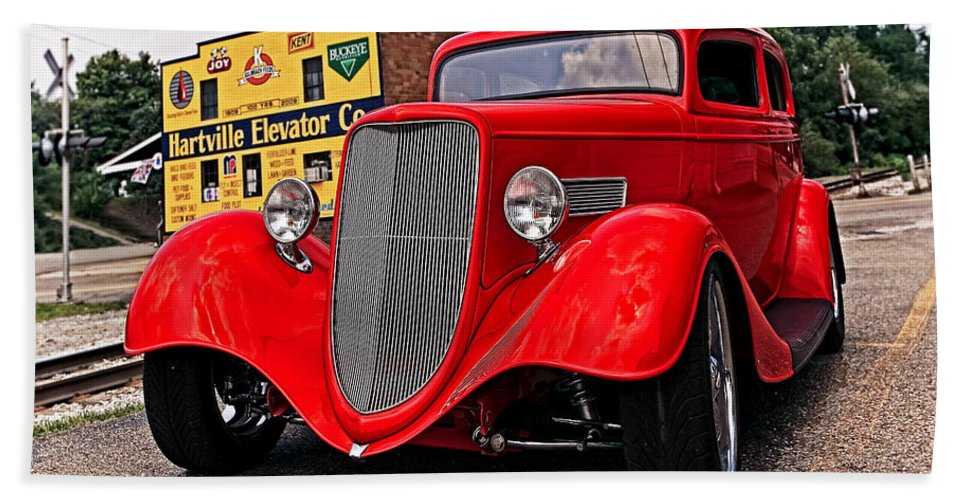 Transportation Bath Sheet featuring the photograph 1933 Ford Coupe by Marcia Colelli