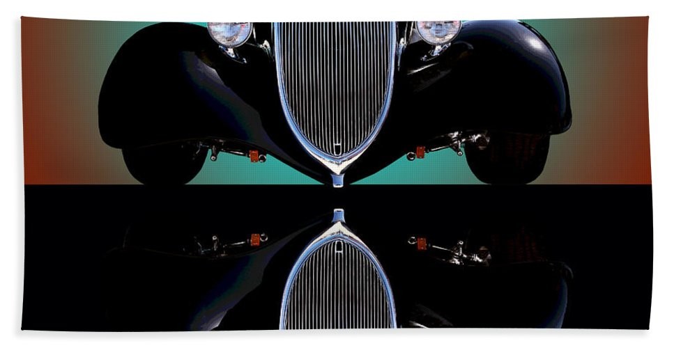 Car Bath Towel featuring the photograph 1934 Ford Phaeton Convertible by Jim Carrell