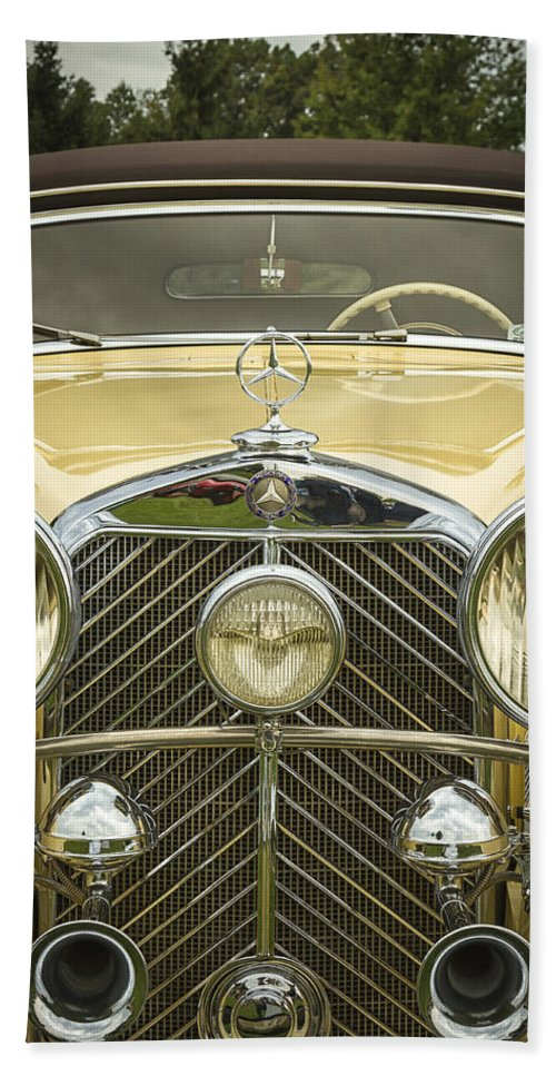 A Hand Towel featuring the photograph 1936 Mercedes Benz by Jack R Perry