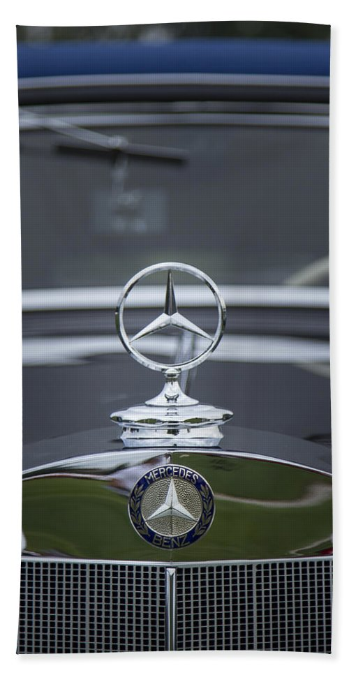 1937 Hand Towel featuring the photograph 1937 Mercedes Benz by Jack R Perry