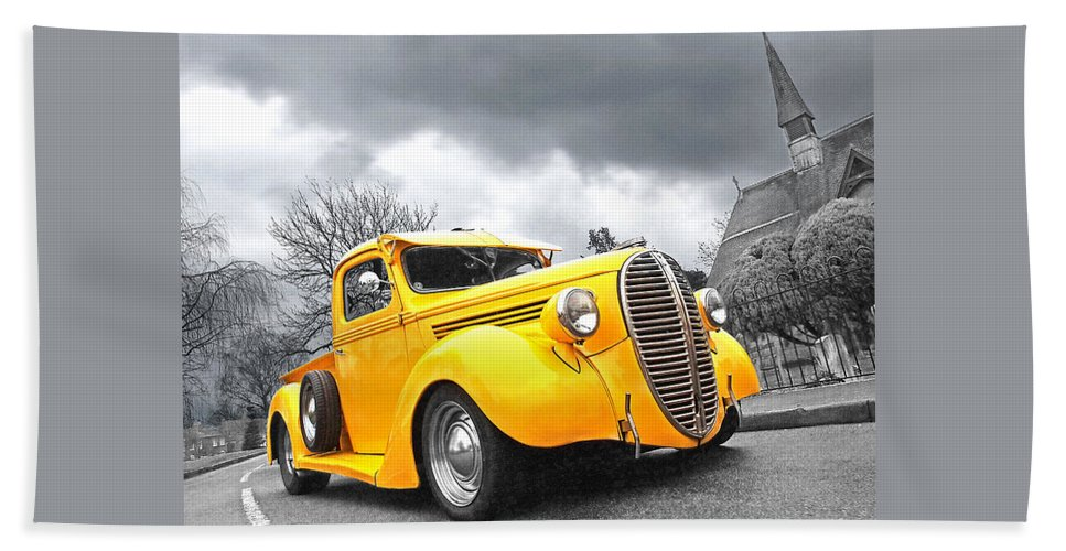 Ford Truck Bath Sheet featuring the photograph 1938 Ford Pickup by Gill Billington