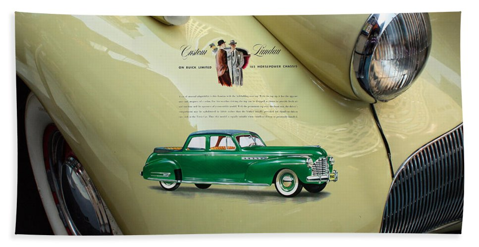 1940 Bath Sheet featuring the photograph 1940 Buick 41c by Nishanth Gopinathan