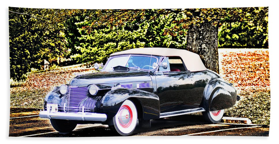 Hand Towel featuring the photograph 1940 Cadillac Coupe Convertible by Randall Branham