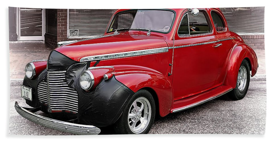 Transportation Bath Sheet featuring the photograph 1940 Chevy Coupe by Marcia Colelli