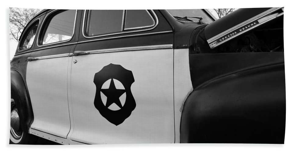 Cop Car Hand Towel featuring the photograph 1941 Chevy Special Deluxe by David Lee Thompson