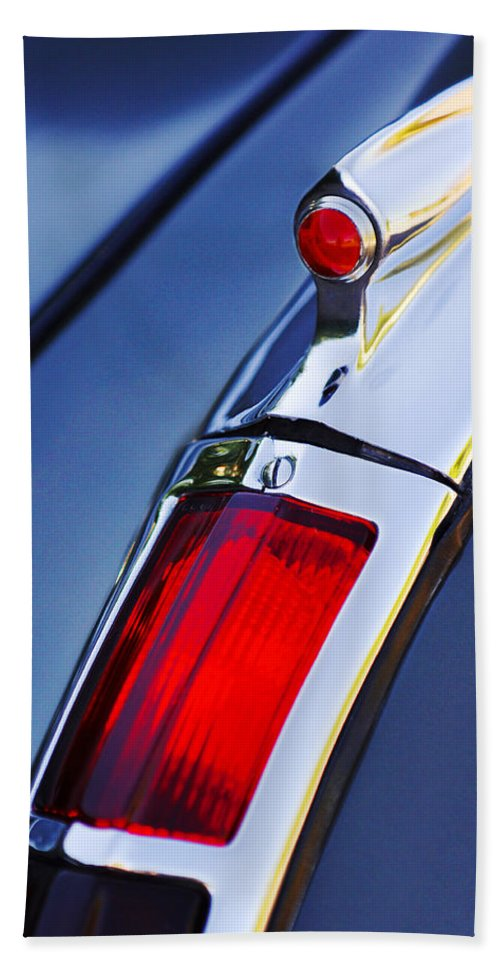 1947 Cadillac Model 62 Coupe Taillight Hand Towel featuring the photograph 1947 Cadillac Model 62 Coupe Taillight by Jill Reger