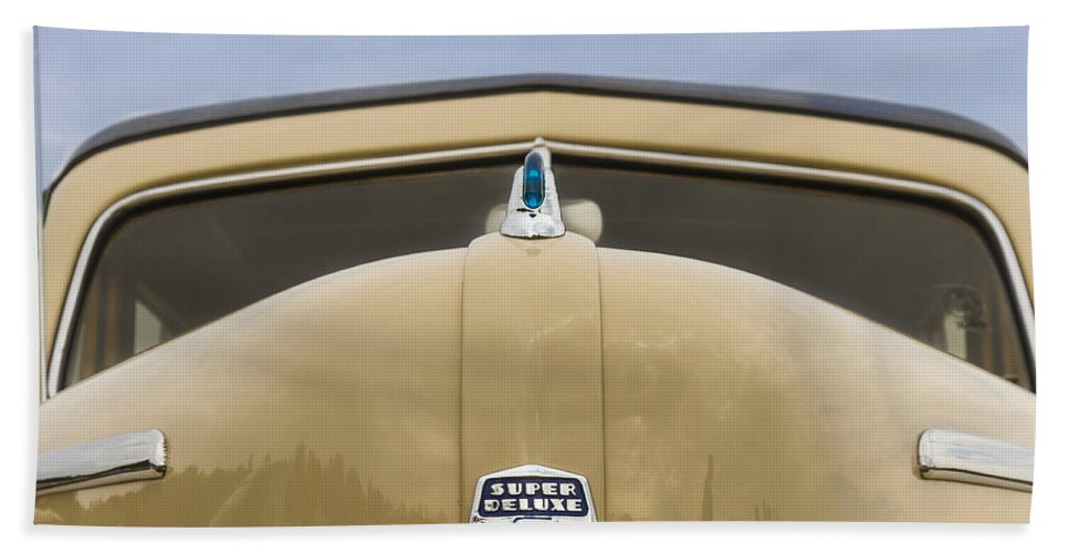 Antique Hand Towel featuring the photograph 1947 Ford Super Deluxe Wagon by Jack R Perry