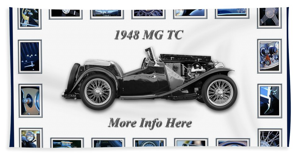 1948 Mg Tc Art Hand Towel featuring the photograph 1948 Mg Tc by Jill Reger