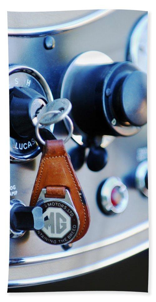 1948 Mg Tc Key Ring Bath Sheet featuring the photograph 1948 Mg Tc Key Ring by Jill Reger
