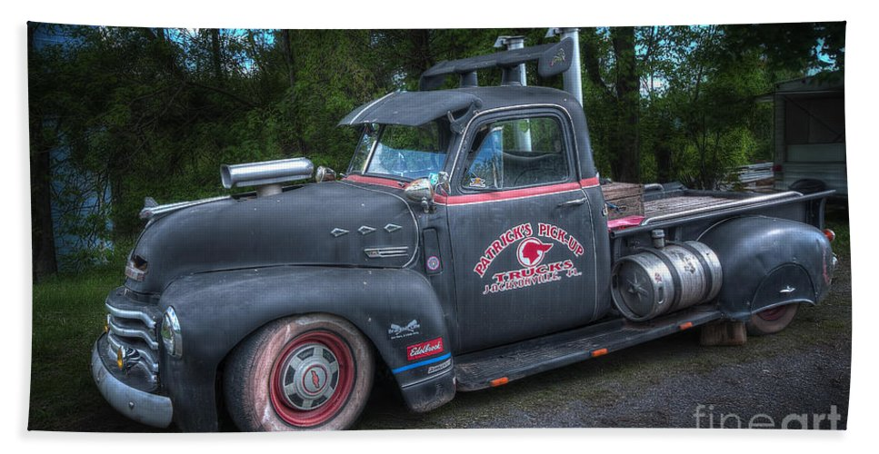 1952 Chevy Pickup Hand Towel featuring the photograph 1952 Chevy Pickup by David B Kawchak Custom Classic Photography