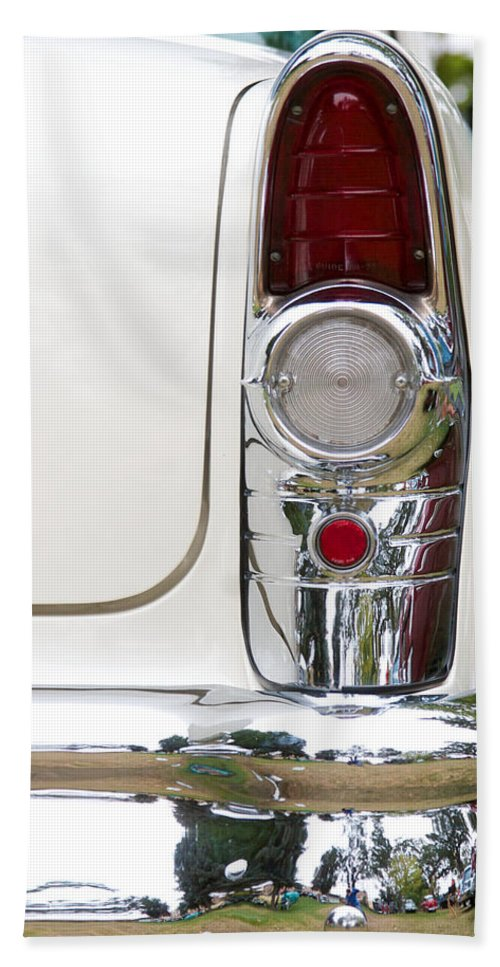 1955 Buick Special Photographs Bath Sheet featuring the photograph 1955 Buick Special Tail Light by Brooke Roby