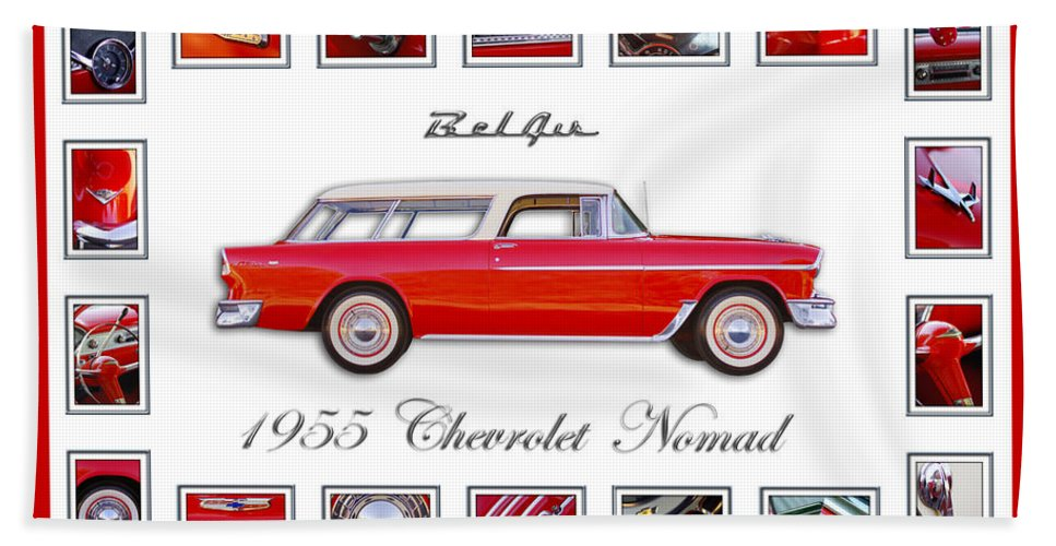 1955 Chevrolet Belair Nomad Art Hand Towel featuring the photograph 1955 Chevrolet Belair Nomad Art by Jill Reger