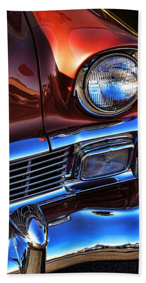 1956 Bath Sheet featuring the photograph 1956 Chevrolet Bel Air by Gordon Dean II