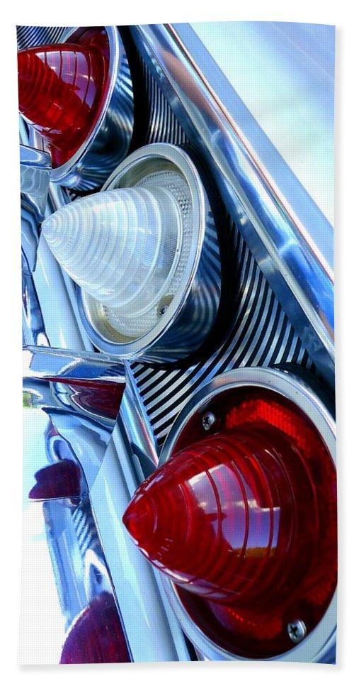 Joseph Skompski Hand Towel featuring the photograph 1960 Chevrolet Impala by Joseph Skompski
