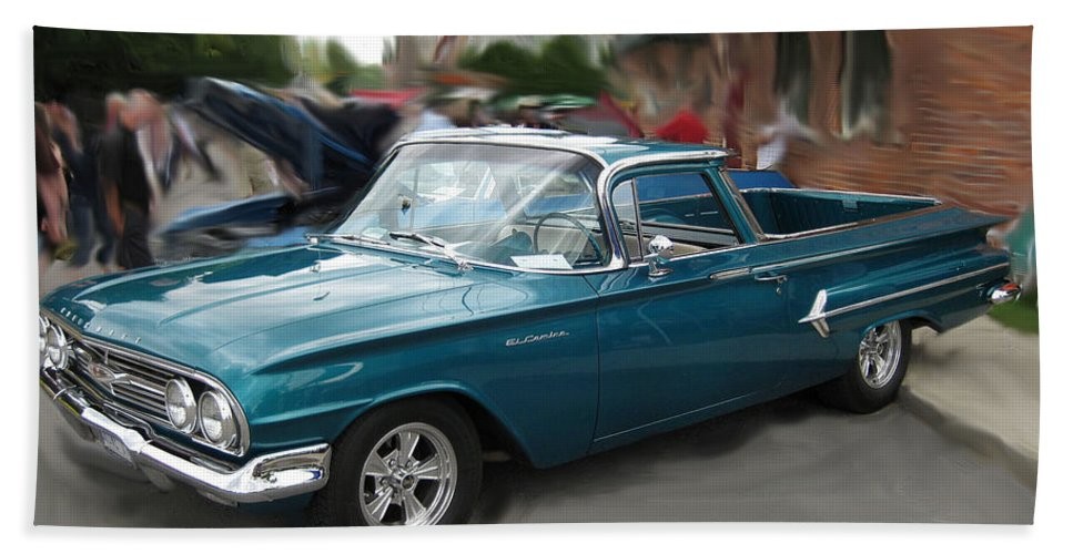 Cars Hand Towel featuring the photograph 1960 Chevy El Camino by Mario Carini