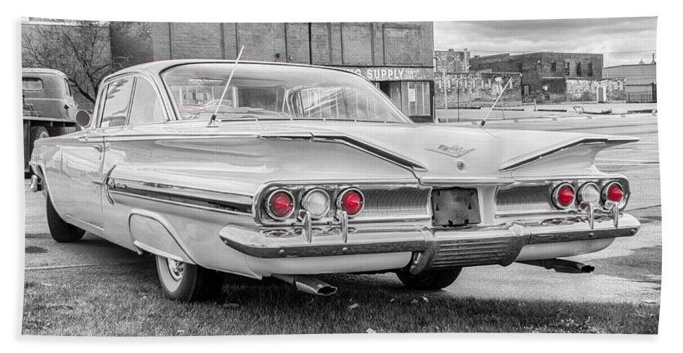 1960 Chevrolet Hand Towel featuring the photograph 1960 Chevy Impala  7d08509 by Guy Whiteley