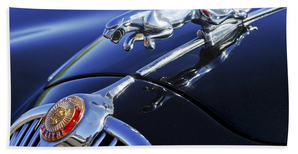 Transportation Hand Towel featuring the photograph 1964 Jaguar Mk2 Saloon by Jill Reger