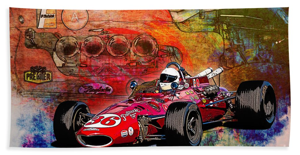 Indy Bath Sheet featuring the photograph 1966 9 Eagle Indy by Stuart Row