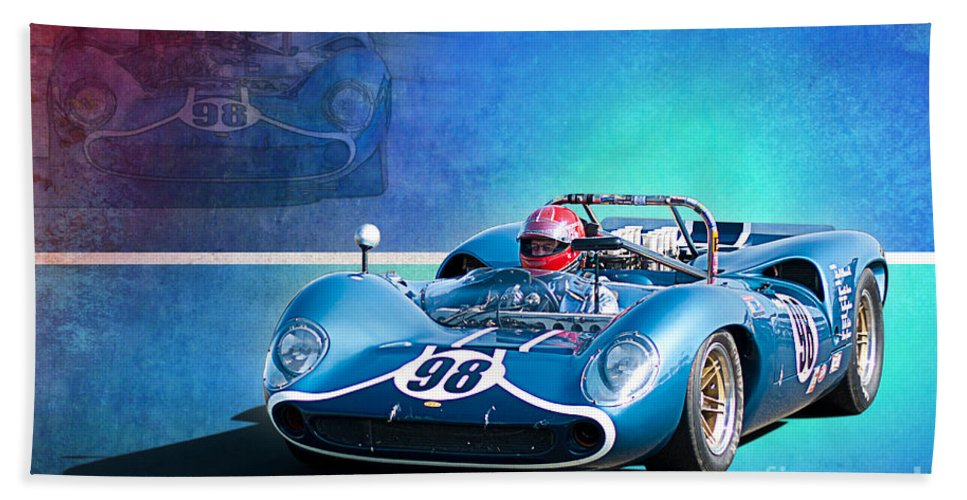 Lola Hand Towel featuring the photograph 1966 Lola T70 by Stuart Row