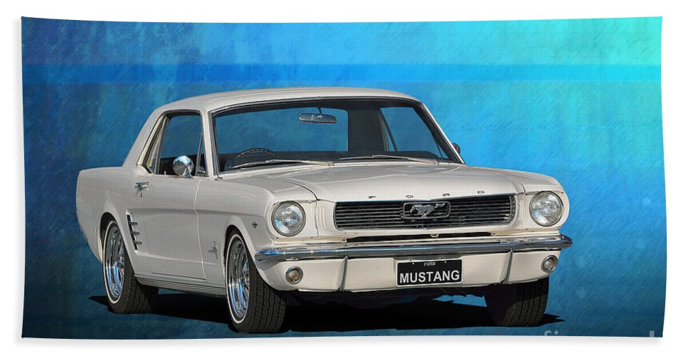 Ford Hand Towel featuring the photograph 1966 Mustang by Stuart Row