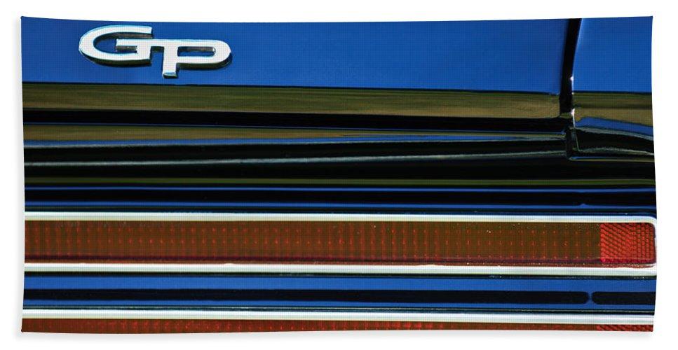 1967 Pontiac Hurst Grand Prix Convertible Taillight Emblem Bath Sheet featuring the photograph 1967 Pontiac Hurst Grand Prix Convertible Taillight Emblem -3584c by Jill Reger