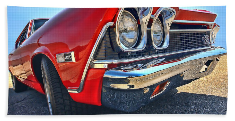 1968 Hand Towel featuring the photograph 1968 Chevy Chevelle Ss 396 by Gordon Dean II