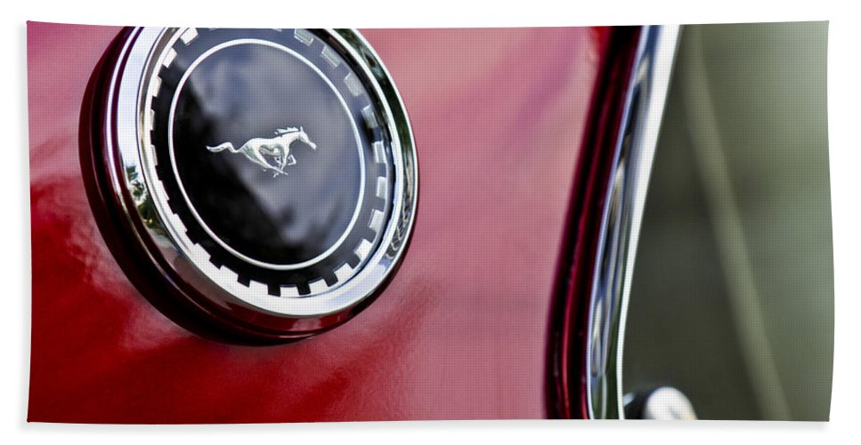 1969 Ford Mustang Bath Sheet featuring the photograph 1969 Ford Mustang Mach 1 by Jill Reger