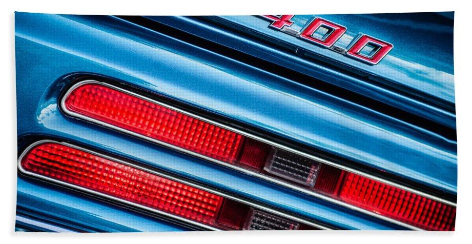 1969 Pontiac 400 Firebird Convertible Taillight Emblem Bath Towel featuring the photograph 1969 Pontiac 400 Firebird Convertible Taillight Emblem -0029c by Jill Reger