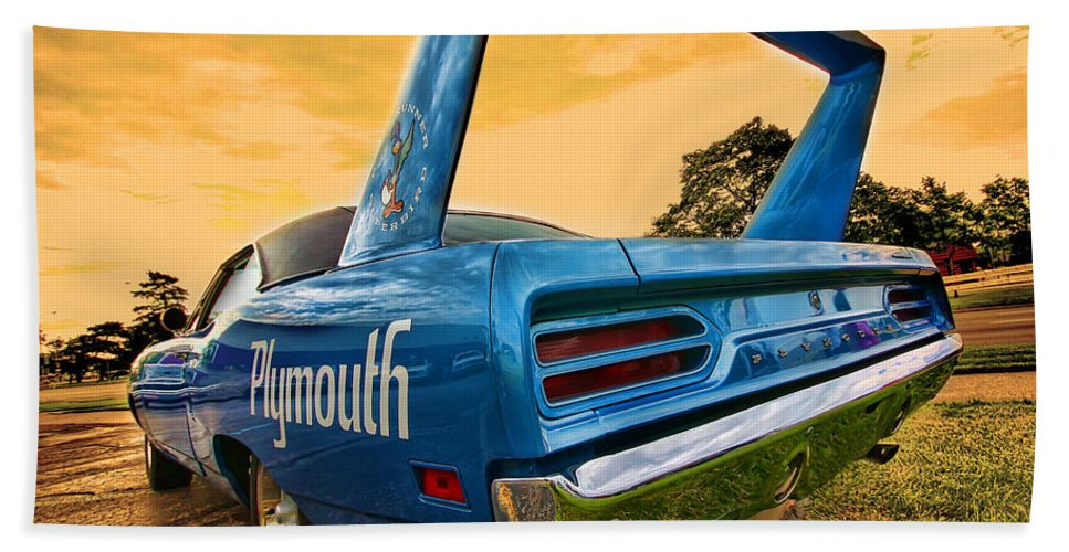 1970 Hand Towel featuring the photograph 1970 Plymouth Road Runner Superbird by Gordon Dean II