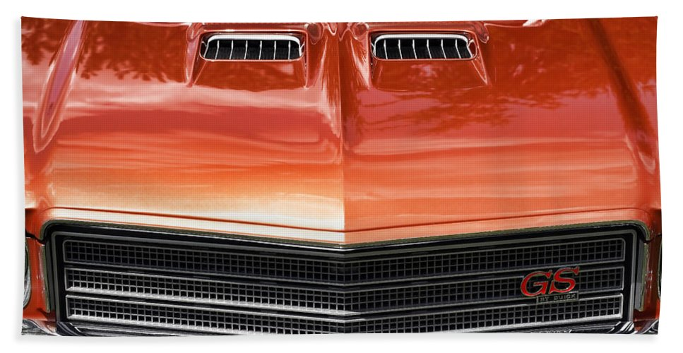 1971 Hand Towel featuring the photograph 1971 Buick Gs Sport Coupe by Gordon Dean II