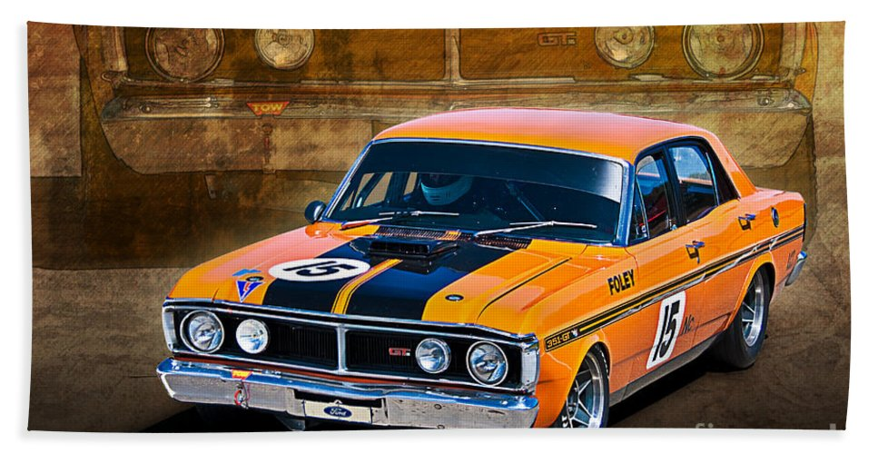 Ford Bath Sheet featuring the photograph 1971 Ford Falcon Xy Gt by Stuart Row