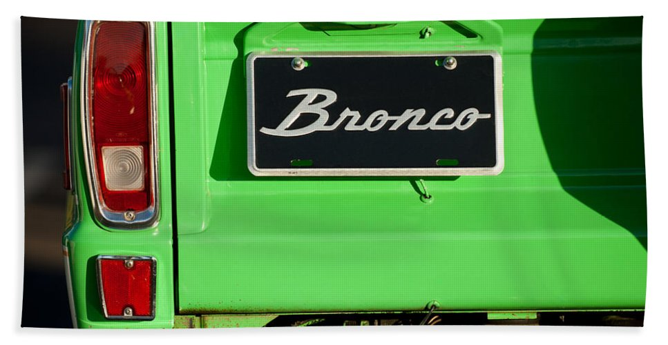 1977 Ford Bronco Taillight Bath Sheet featuring the photograph 1977 Ford Bronco Taillight by Jill Reger