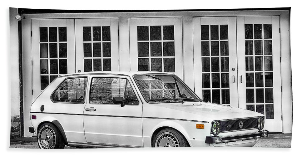 Vw Hand Towel featuring the photograph 1979 Vw Rabbit IIi by Scott Wyatt