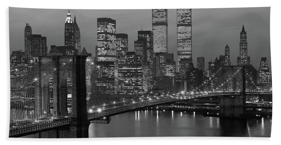 Photography Bath Towel featuring the photograph 1980s New York City Lower Manhattan by Vintage Images