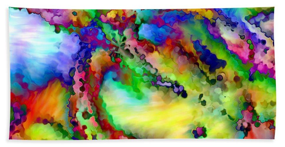 Hand Towel featuring the digital art 1997003 by Studio Pixelskizm