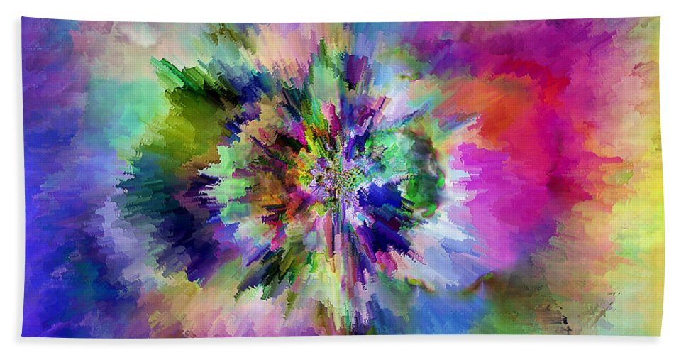 Hand Towel featuring the digital art 1997012 by Studio Pixelskizm