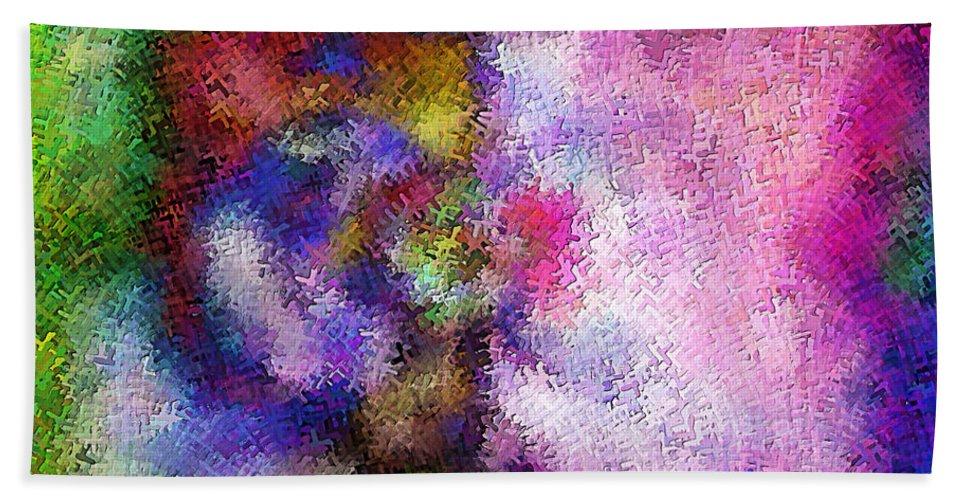 Hand Towel featuring the digital art 1997014 by Studio Pixelskizm