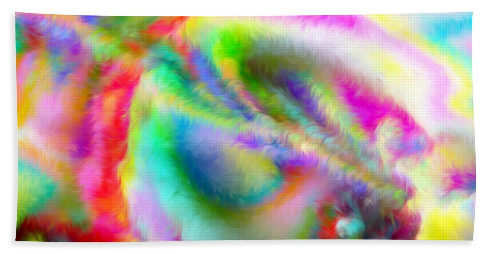 Hand Towel featuring the digital art 1997031 by Studio Pixelskizm