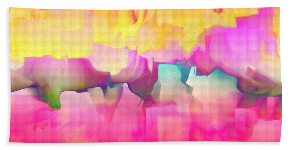 Hand Towel featuring the digital art 1998027 by Studio Pixelskizm