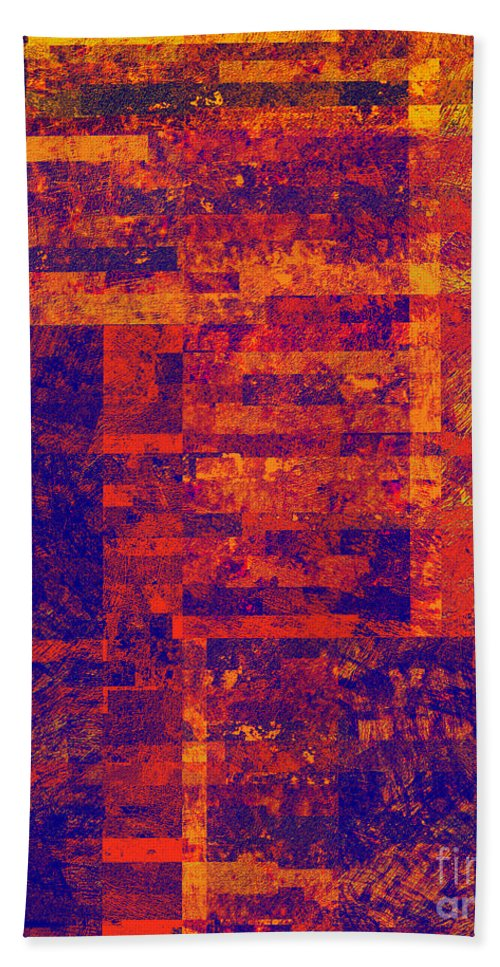 Abstract Bath Sheet featuring the digital art 0171 Abstract Thought by Chowdary V Arikatla